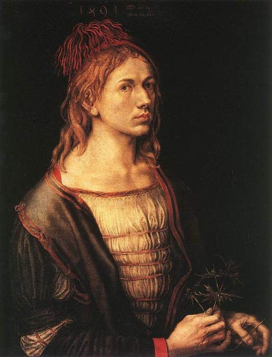 famous painting Self-portrait às 22 of Albrecht Durer