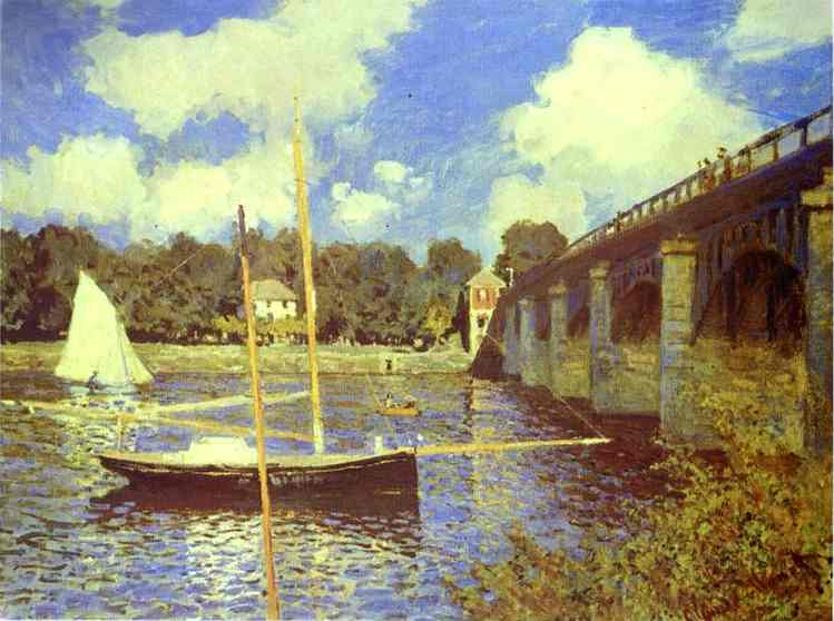 famous painting O Bridge Road em Argenteuil of Claude Monet