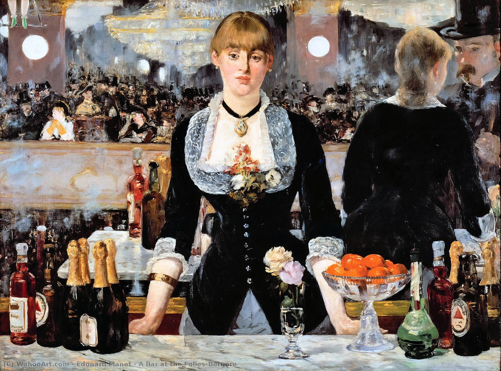 famous painting um bar no Folies-Bergere of Edouard Manet