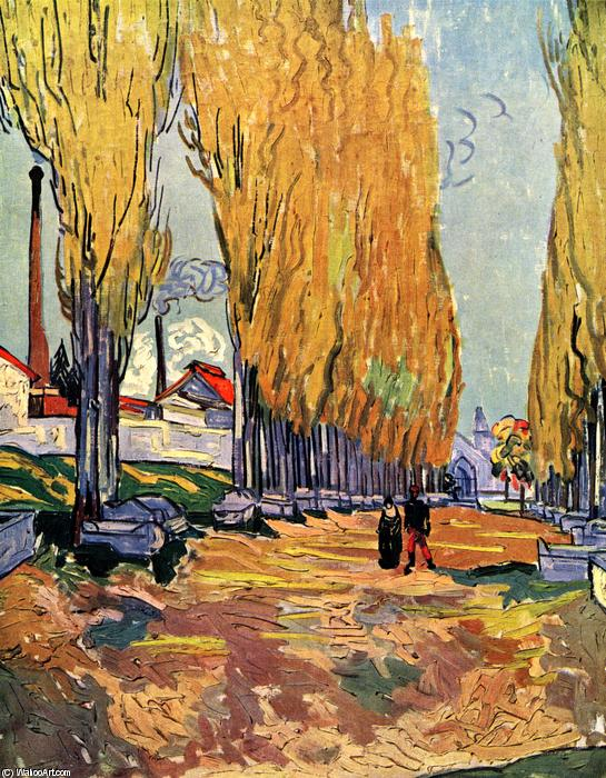 famous painting alyscamps les of Vincent Van Gogh