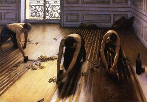 Gustave Caillebotte - Os raspadores Andar aka The Strippers Pavimento