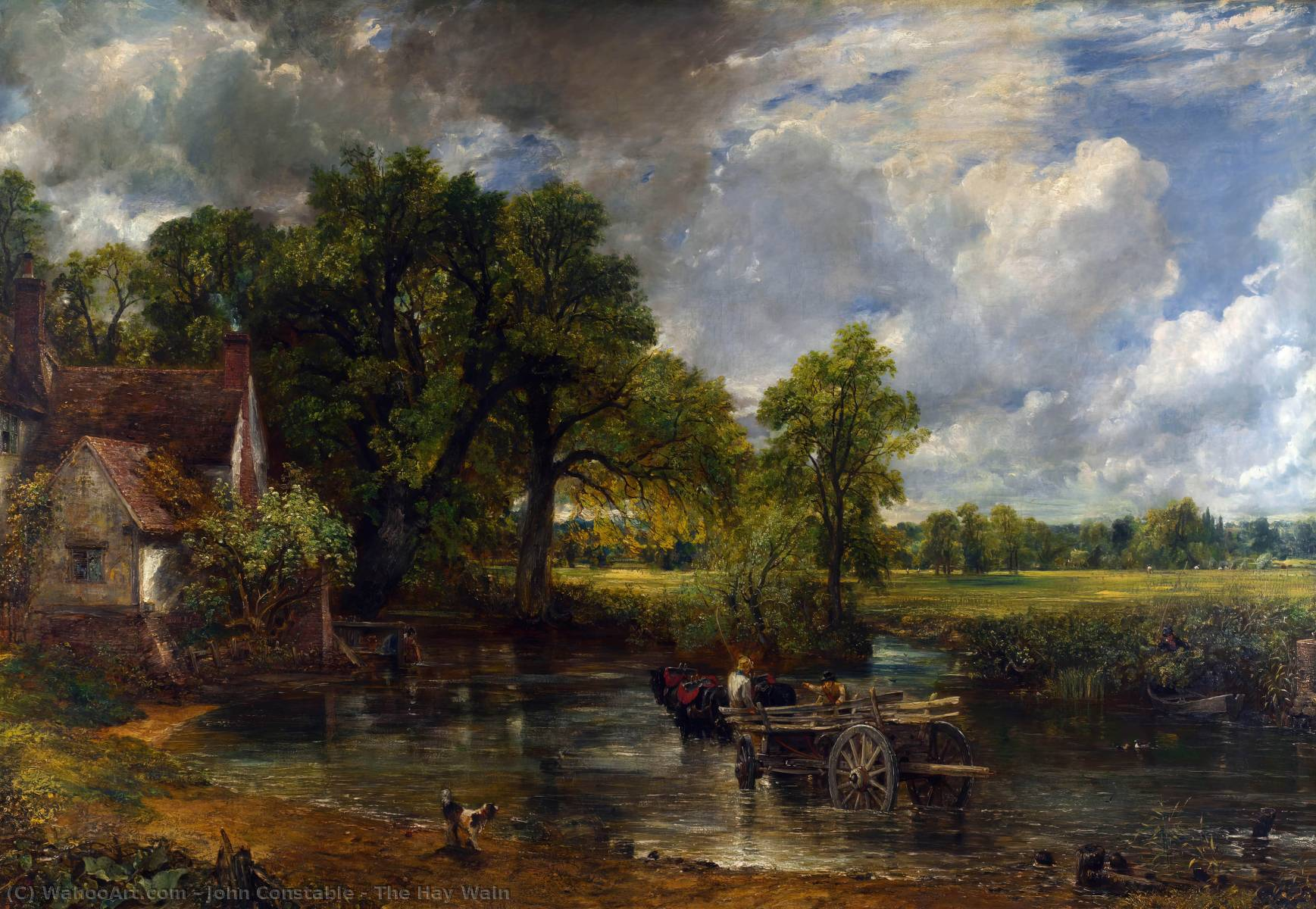 famous painting o Hay Carroça  of John Constable