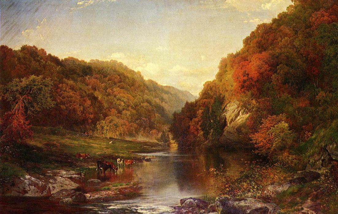 famous painting Outono no Wissahickon of Thomas Moran