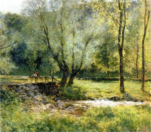 Willard Leroy Metcalf - rapazes pescaria