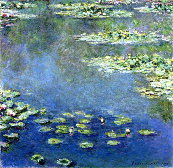 famous painting nenúfares of Claude Monet