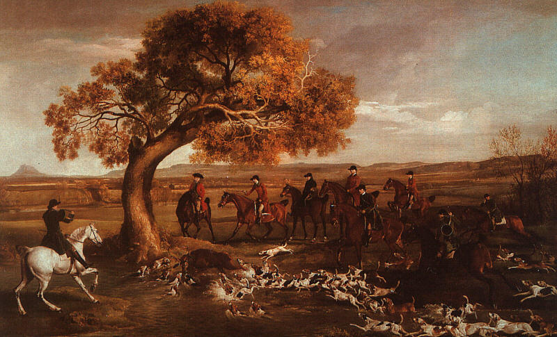 famous painting The Grosvenor Caça of George Stubbs