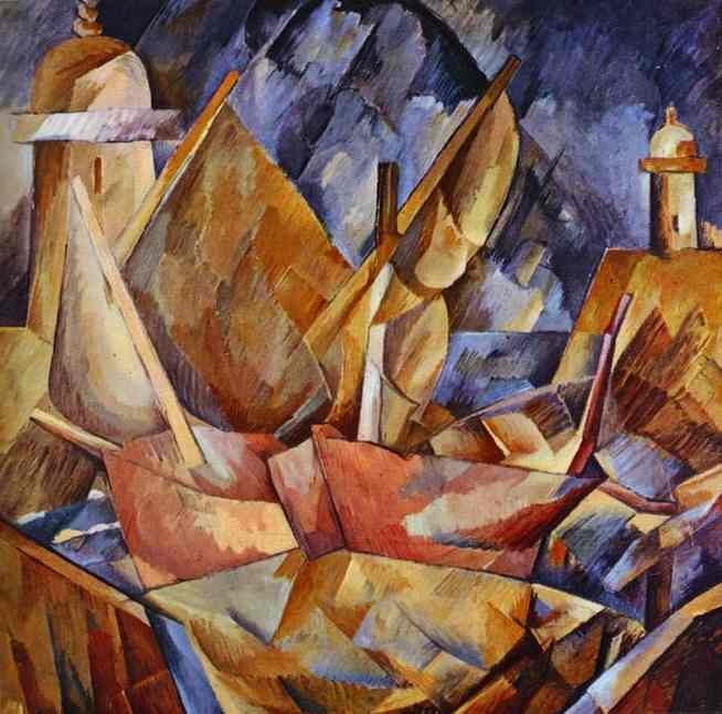 famous painting Porto em Normandy of Georges Braque
