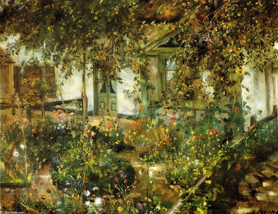 famous painting Pátio no Bloom of Lovis Corinth (Franz Heinrich Louis)