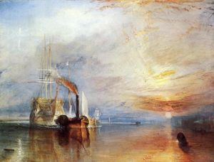 William Turner - A Fighting Temeraire 'puxou a seu último ancoradouro a quebrar-Up