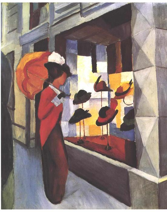 famous painting O Hat Shop of August Macke