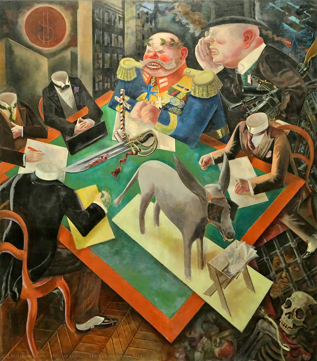 famous painting o eclipse do sol of George Grosz