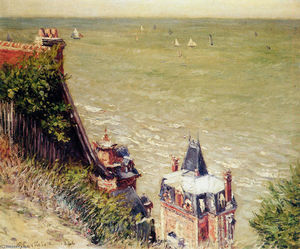 Gustave Caillebotte - A moradia rosa em Trouville