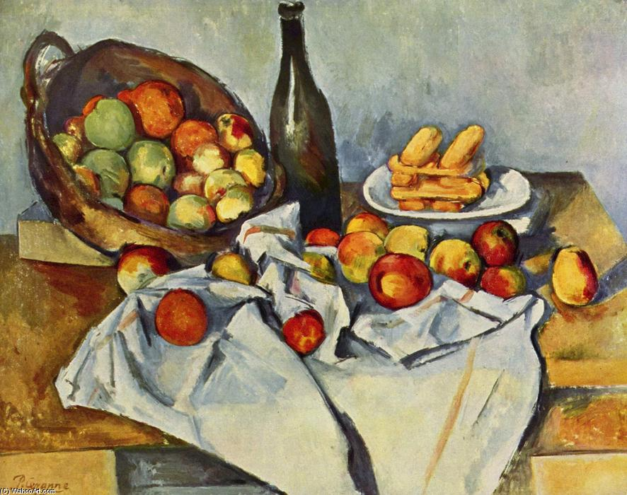 famous painting cesta de maçãs  of Paul Cezanne