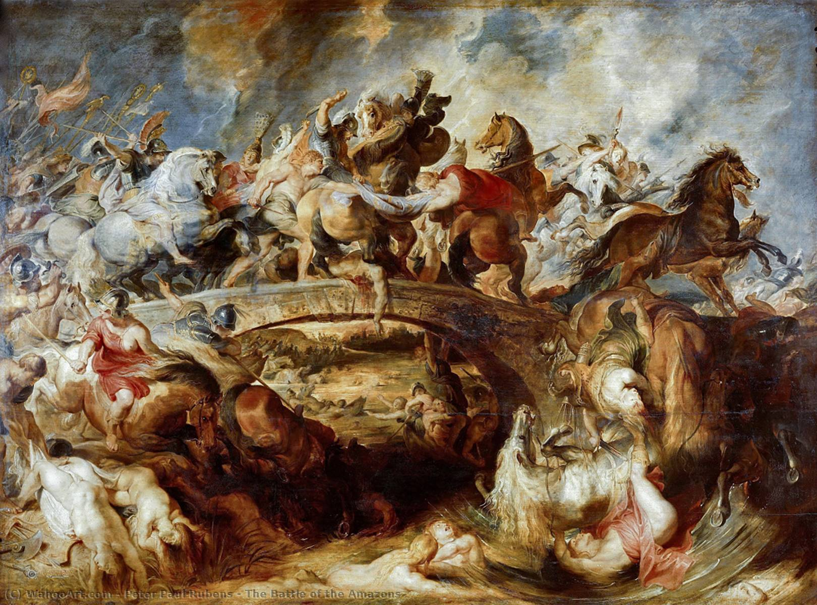 famous painting a batalha das amazonas of Peter Paul Rubens