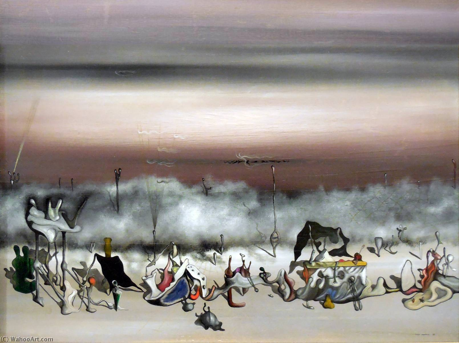 famous painting o fita  dos  demasia  of Yves Tanguy