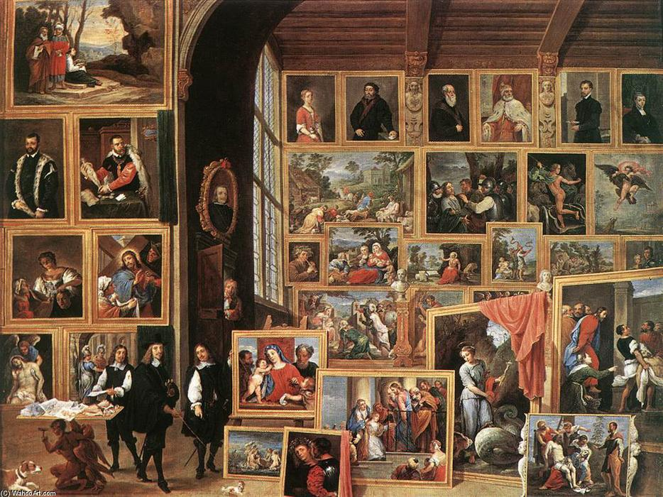 famous painting A Galeria de Archduke Leopold em Bruxelas of David The Younger Teniers