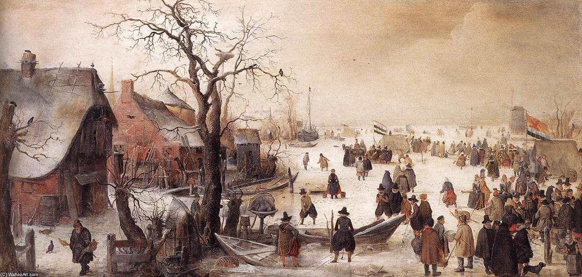 famous painting inverno cena num Canal of Hendrick Avercamp