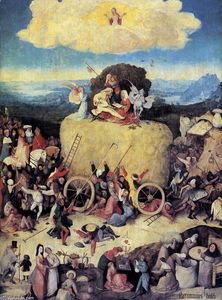 Hieronymus Bosch - Triptych de Haywain (painel central)
