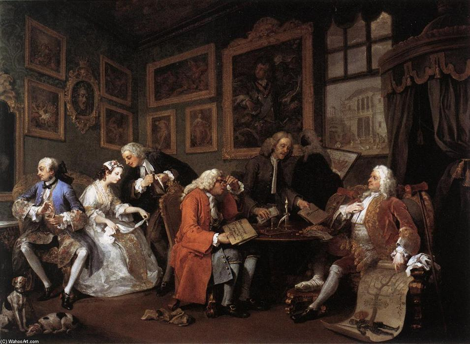 famous painting Marriage à la Mode of William Hogarth