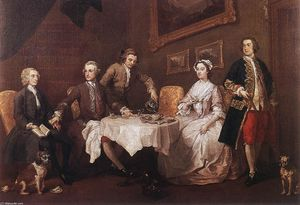 William Hogarth - A família Strode