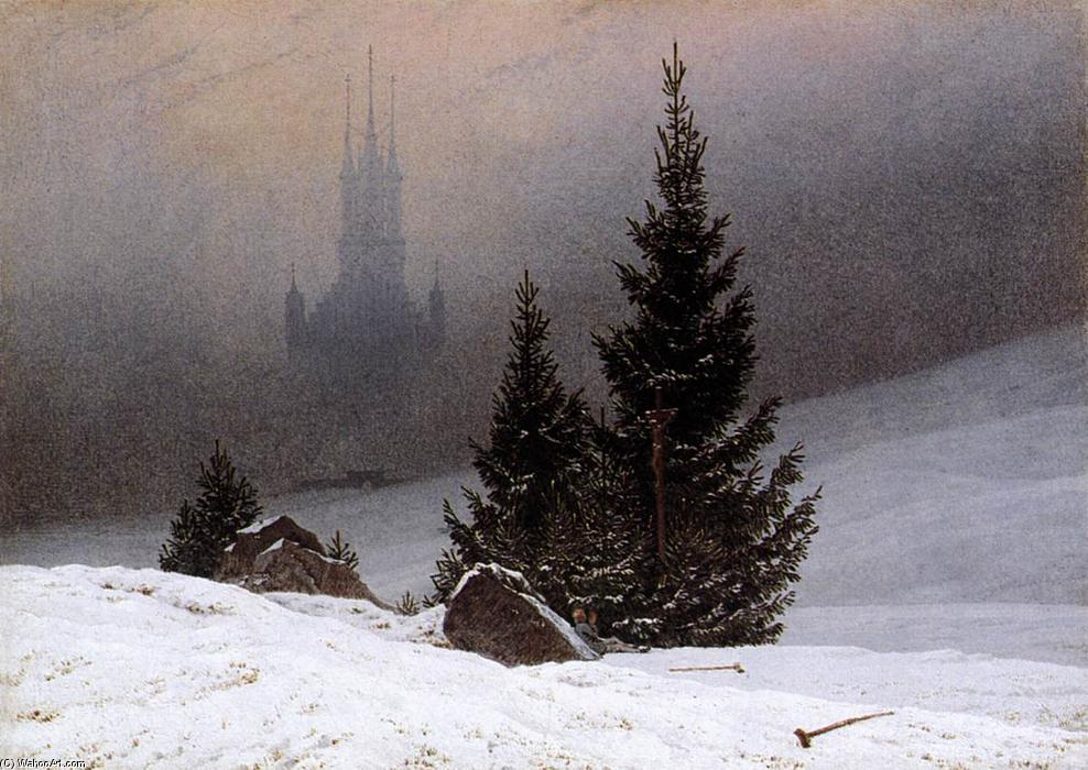 famous painting paisagem de inverno of Caspar David Friedrich
