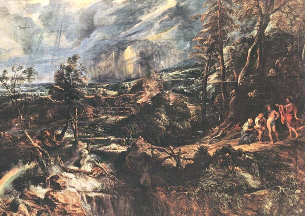 famous painting Stormy Paisagem of Peter Paul Rubens
