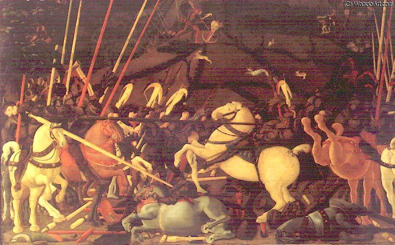 famous painting a batalha de san romano of Paolo Uccello
