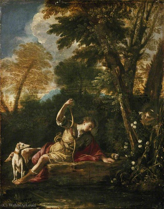 famous painting Eco e Narciso of Pier Francesco Mola